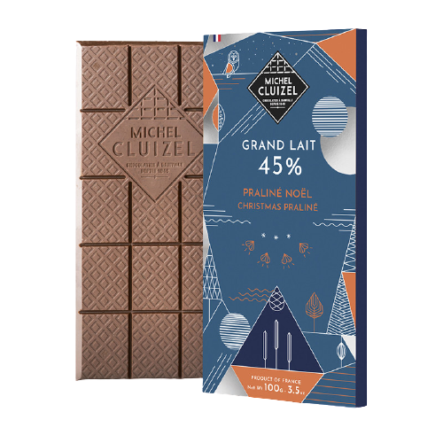 Tablette Grand Lait 45% Praliné Noël
